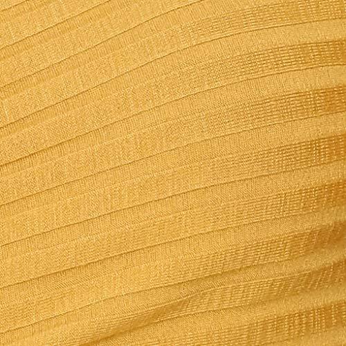 Magliette Autunno Scollo Camicetta Maniche Lunghe Maglia Corta Giallo Tops Manica Lunga Donna A Felpa Top Vicgrey shirt V Casuale T Camicia dg7HIdB