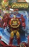 Bingo Avengers Iron Man Figures Transformer Robot Toy Deformation to Digital Wrist Watch for Kids (Red)