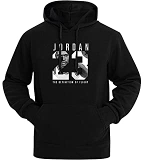 Mancave Men Kangaroo Pocket Slim Jordan 23 Printed Full Sleeve Sporty Hoodie