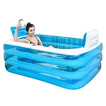 XYFL Hogar Inflable Bañera Plástico Grueso Caliente Adulto Baño ...