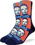 Good Luck Sock Men's Elon Musk Socks - Black, Adult Shoe Size 8-13