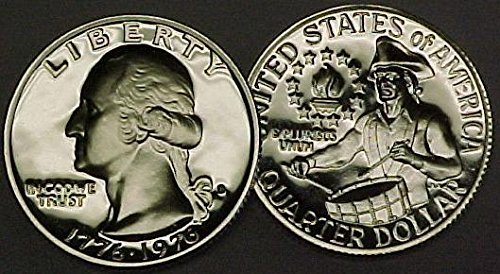 1976 S Proof Washington Silver Quarter Bicentennial 1776