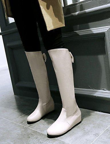 XZZ/ Damen-Stiefel-Outddor / Büro / Lässig-Kunstleder-Keilabsatz-Wedges / Modische Stiefel-Schwarz / Rot / Grau / Beige gray-us9 / eu40 / uk7 / cn41