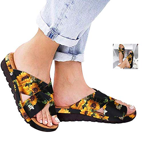 Dressin Women's Sandals 2019 New Women Comfy Platform Sandal Shoes Summer Beach Travel Shoes Fashion Sandal Ladies Shoes