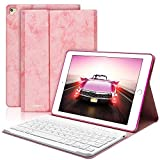 BAIKEN iPad Keyboard Case 9.7 for iPad 2018(6th Gen) iPad 2017 (5th Gen) iPad Pro 9.7 iPad Air 2&1 - iPad Case with Detachable Bluetooth Keyboard- Auto Sleep Wake (Pink)