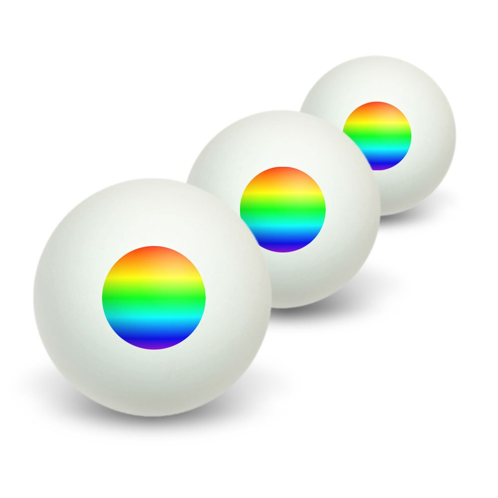 Rainbow - Gay Lesbian Novelty Table Tennis Ping Pong Ball 3 Pack:  Amazon.co.uk: Sports & Outdoors