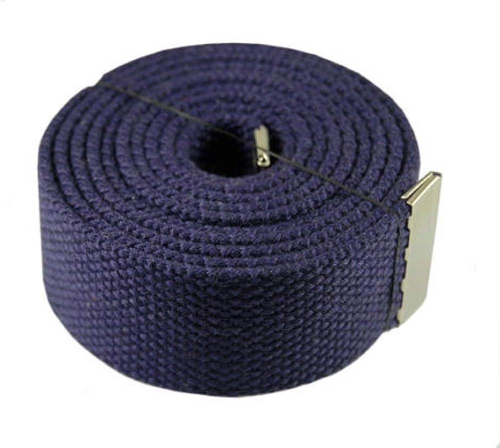 Purple Military Canvas Plain Black Flip Top Web Belt /& Buckle 60 #MNAS