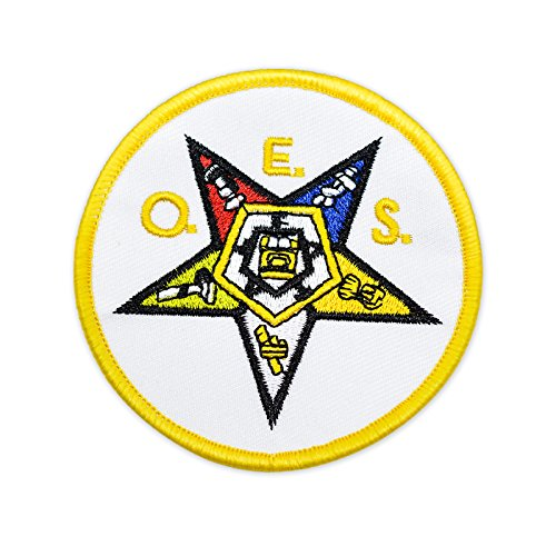 Order of The Eastern Star Round Embroidered Masonic Patch - 3