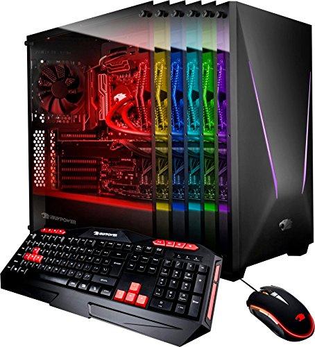 iBUYPOWER - Desktop - Intel Core i7-7700K - 16GB Memory - NVIDIA GeForce GTX 1080 - 240GB Solid State Drive + 1TB Hard Drive - Windows 10 - Keyboard/Mouse - -Black/Gray (16 Gb Solid State Hard Drive)