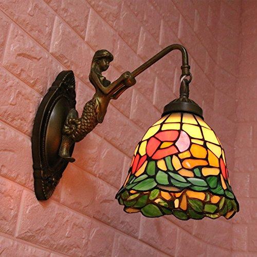 MMYNL Moderne E27 Antik Wandlampe Vintage Wandlampen Wandleuchten für Schlafzimmer Wohnzimmer Bar Flur Bad Küche Balkon E27-Korridor führte Nachttischlampen-Portal-Lampen-Korridor 15X28CM Wandleuchte