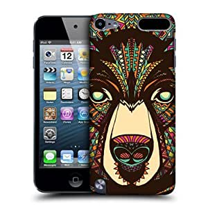 Bear Aztec Animal Faces Hard Back Case For Apple iPod Touch 5G 5th Gen