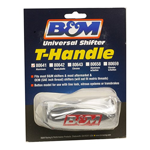 - B&M 80641 Brushed Aluminum T-Handle Shifter Knob
