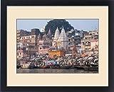 Framed Print of Ghats along the bank of the Ganges River, Varanasi, India