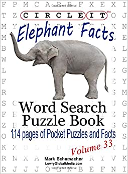 Circle It, Elephant Facts, Word Search, Puzzle Book
