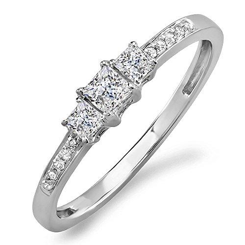 0.33 Ct Princess Diamond - 4