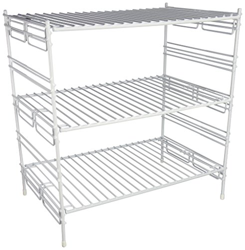 Shoe Cabinet Triple Finish - Grayline 40916, Large Adjustable Upper Cabinet Helper Shelf, White