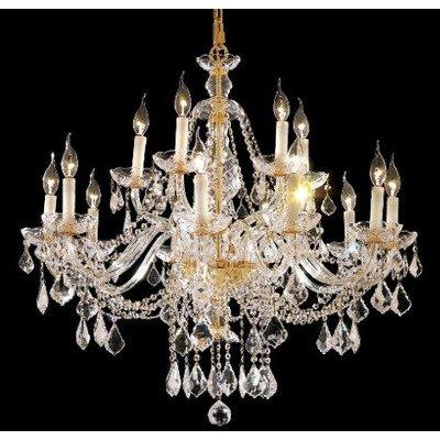Alexandria 12 Light Chandelier Finish: Gold, Crystal Trim: Elegant Cut