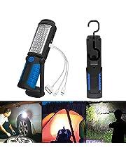 SunTop Led-werklamp, met magneet, oplaadbare zaklamp, werkplaatslamp, draagbare handlamp, campinglamp voor autoreparatie, werkplaats, garage, camping, noodverlichting