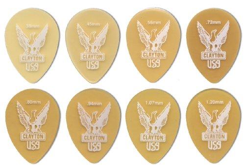 Clayton Ultem Guitar Picks (Select from gauges .38mm - 1.20mm) ()