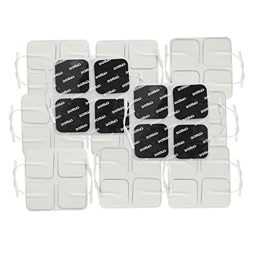 DOMAS Square Reusable Tens Unit Electrode Pads 2''x2'' Inch Pack of - 40 Square Electrodes 2'