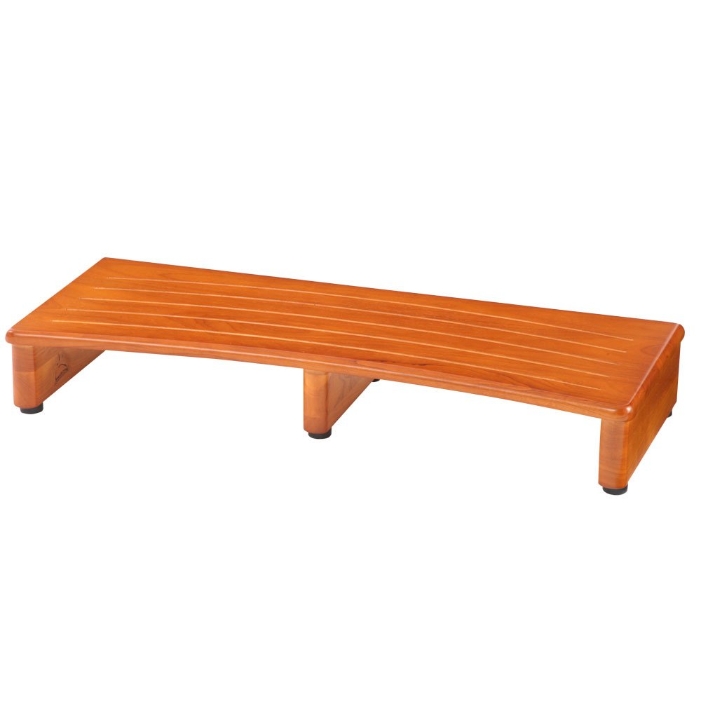 玄関踏み台 完成品 木製 玄関 踏み台 ステップ アジャスター付き ステップ台 玄関台 補助台 木 〔幅90cm〕 B00V7K04PS