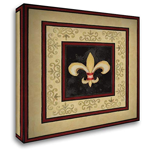 Fleur de LYS I 20x20 Gallery Wrapped Stretched Canvas Art by Gaynor, Janice