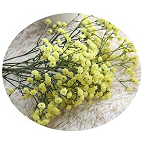 Endand Gypsophila Artificial Flowers Baby's Breath Fake Floral Plant for Wedding Bouquet Party Decorations 3 Colors #L,Yellow,China 31