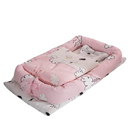 Cuna de bebé con edredón desmontable cama de bebé aislada recién nacido bebé dormir artificial plegable Bionic cama con un edredón (0 – 24 ...