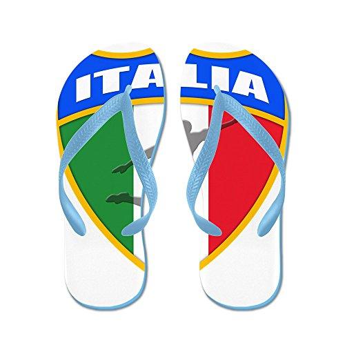 Cafepress Italienska Världsfotboll - Flip Flops, Roliga Rem Sandaler, Strand Sandaler Caribbean Blue