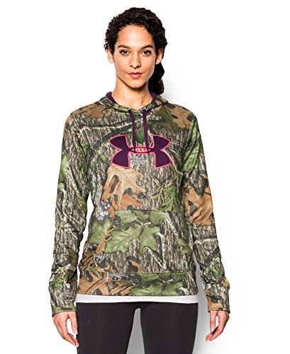 Under Armour Women's Armour Fleece Camo Big Logo Hoodie, Mossy Oak Obsession (940), X-Large