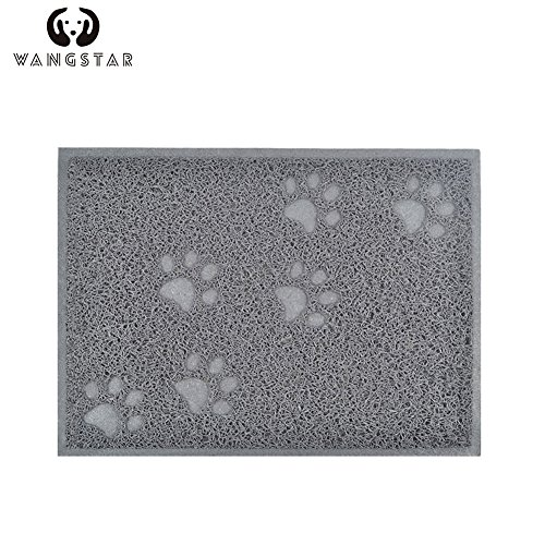 wangstar Pet Cat Litter Mat,Litter Trapper Mat,Food Mat,Kitty Litter Catcher with Scatter Control Easy to Hoover and Wipe