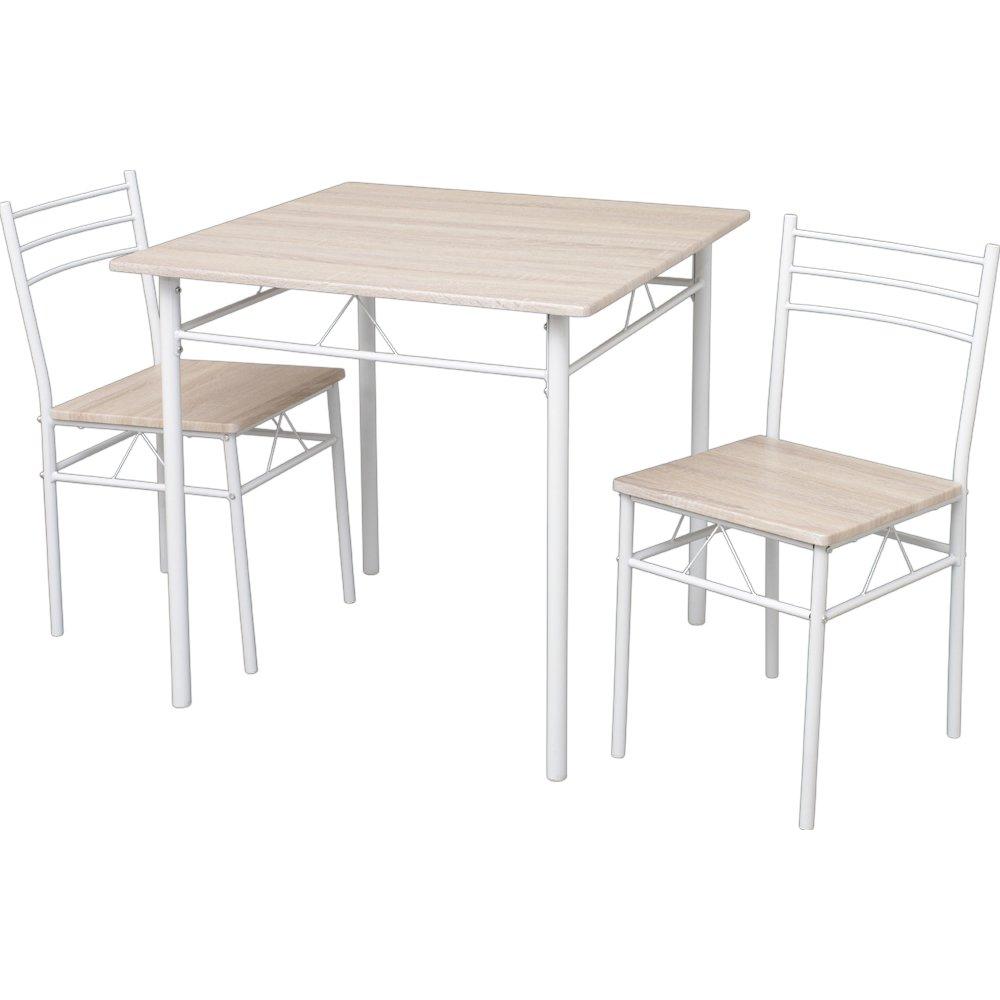 ダイニングテーブルセット 3点セット(チェア2脚テーブル幅75) 幅75×奥行75×高さ74 ナチュラル ASP-75 B078213JD3  ナチュラル