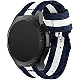 St.Dona Premium Nylon Watch Bands for Samsung Gear S3 Frontier / S3 Classic Watch Replacement Band Sport Bracelet Strap with Adjustable Metal Stainless Steel Clasp Buckle