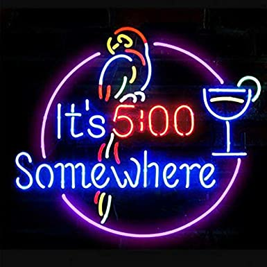 handgemachte echte Glasr/öhre Bier Bar Pub Home Room Fenster Garage Wand Dekor Hochzeit Party Dekoration M-Pirate 17x14 Neon Zeichen Licht,Leuchtreklame Licht,Nachtlicht,Werbeschild