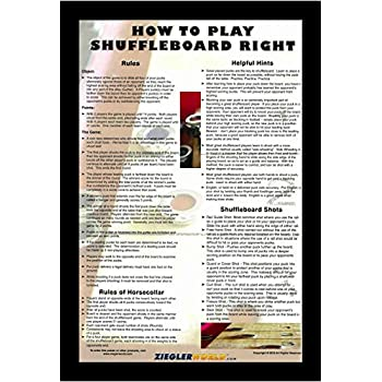 HOW TO PLAY TABLE SHUFFLEBOARD RIGHT POSTER