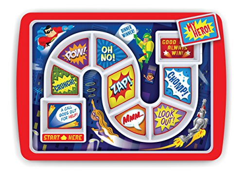 Fred DINNER WINNER Kids' Dinner Tray, Supper Hero -