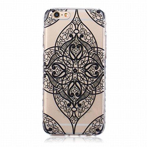 Pour iphone 6 6S (4.7inch) Coque Etui, Ougger Mode Dentelle Printed TPU Caoutchouc Silicone Transparent Protecteur Bumper l¨¦ger Skin Housse