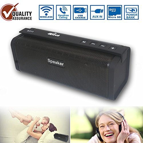 - Conference Bluetooth Speaker,Home Wireless Speaker with HD Audio and Enhanced Bass,Built-in Dual Driver Speakerphone,Handsfree Calling,FM Radio and Portable Bluetooth Speaker