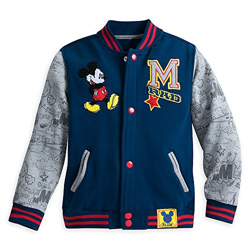 Disney Mickey Mouse Varsity Knit Sweat Jacket for Boys Size 3 (Disney Varsity Jacket)