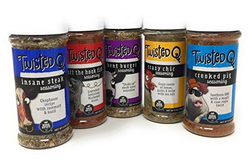 Twisted Q Seasonings Pack Chicken Pork Beef Fish, Grill, Smoke, Roast, Bake, Fry (Twisted Smoke)