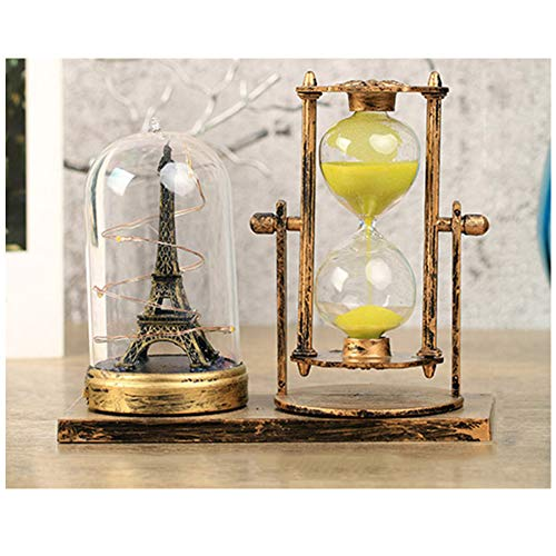 - lightclub 2Pcs Vintage Hourglass LED Light Tower Desk Table Lamp Home Holiday Decor Gifts Golden