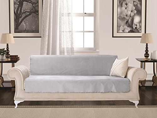 Chiara Rose Diamond Sofa Slipcover 3 Cushion Sofa Cover 1 Piece Couch Furniture Protector New Grey