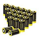 Morpilot 3V CR123A Lithium Battery, High Capacity 20 Pack 1450mAh Non-Rechargeable CR123A Batteries