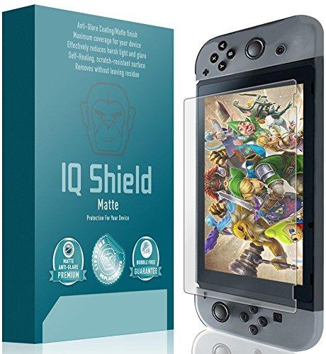IQ Shield Matte Full Coverage Anti-Glare Screen Protector for Nintendo Switch (Updated Design) Anti-Bubble Film [Video Game]