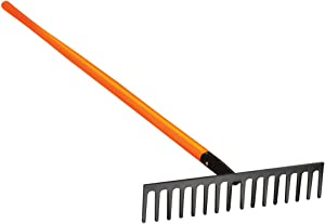 A.M. Leonard Straight Rake with Composite Handle - 16.5 Inches/16 Tines