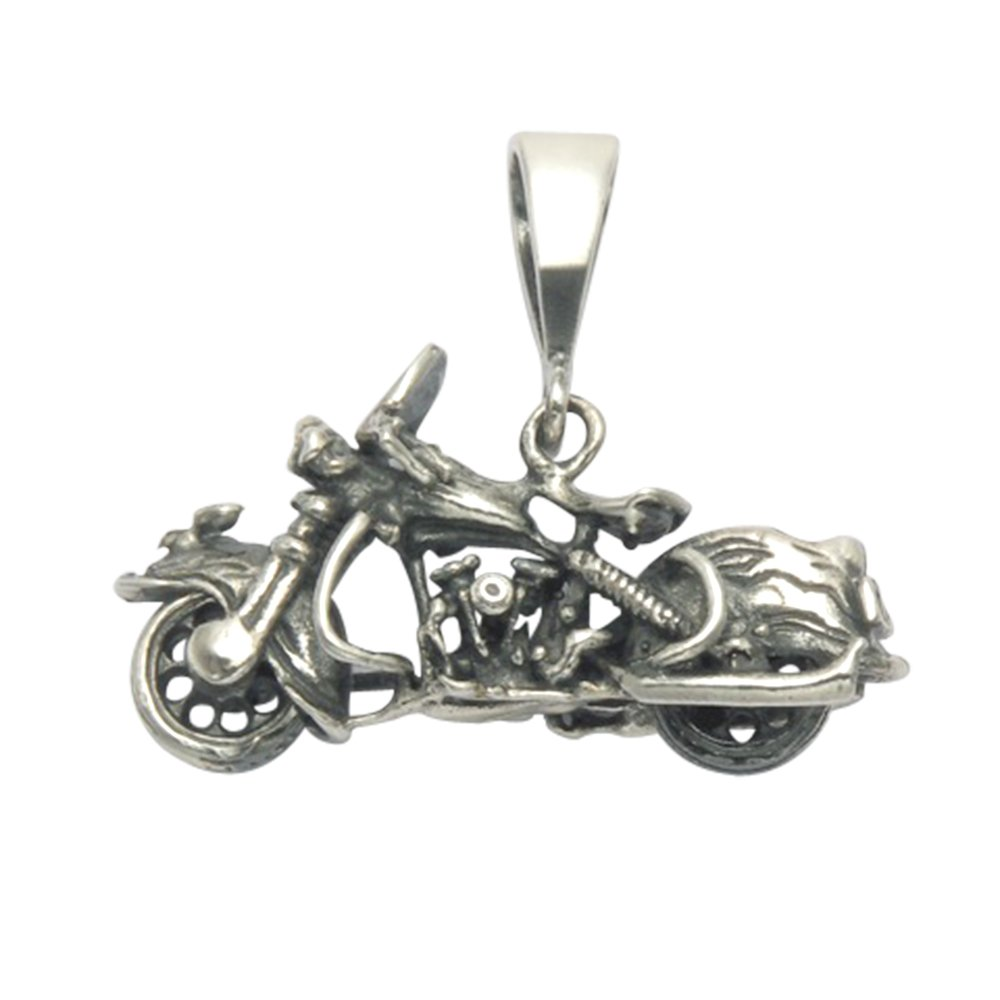 Wild Things Sterling Silver Classic Early Dresser Motorcycle Pendant