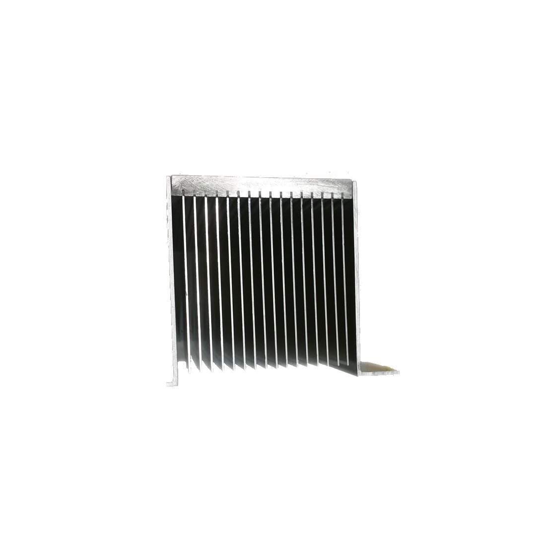 """12"""" inch Aluminum High Power Bonded Fin Heat Sink Assembly for Natural or Forced Air Convection – 16 Fin with Mounting Brackets by Machtron (Image #4)"""