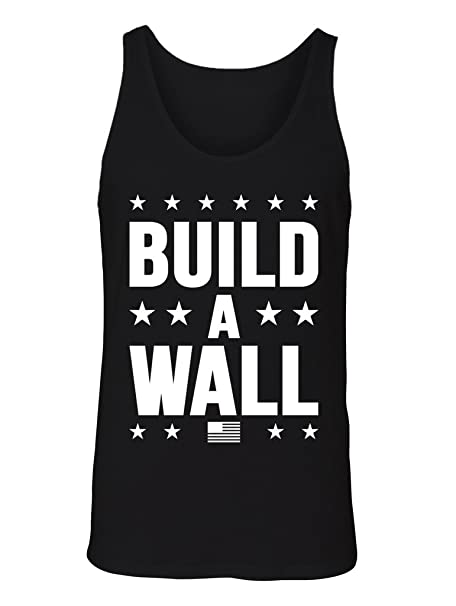 Amazon com: Manateez Men's Trump Build a Wall Tank Top: Clothing