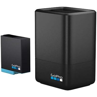 GoPro AJDBD-001-EU, Cargador de batería dual y batería para Hero 8/7/6, Tamaño Único, Negro