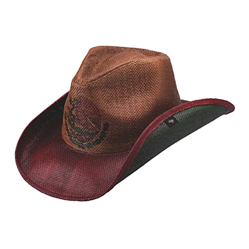 new-peter-grimm-red-la-bandera-mexican-flag-western-cowboy-hat